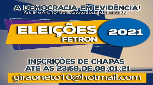 ELEIÇÕES FETRON 2021