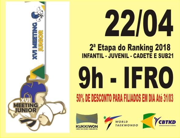 XVI Meeting Junior - PRÉ-INSCRIÇÕES ABERTAS